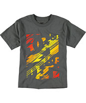 DC Boys Vroom Charcoal Tee Shirt