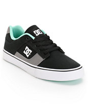 DC Bridge TX Black, Grey, & Mint Canvas Skate Shoe