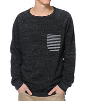 DC Chester Black Crew Neck Pocket Sweatshirt