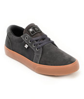 DC Council S Grey & Gum Suede Skate Shoe