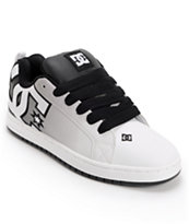 DC Court Graffik SE Black & White Print Skate Shoe
