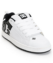 DC Court Graffik SE White & Carbon Fiber Skate Shoe