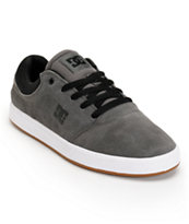 DC Crisis Grey, Black, & White Suede Skate Shoe