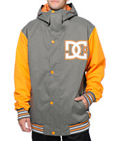 DC DCLA 10K Grey & Orange 2014 Varsity Snowboard Jacket