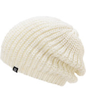 DC Girls Georgia White Lurex Slouch Beanie
