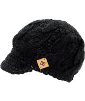 DC Girls Jora Black Visor Beanie