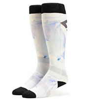 DC Girls Playtime Aqua Glass White Snowboard Socks