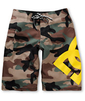 DC Lanai Camo & Yellow 22 Board Shorts