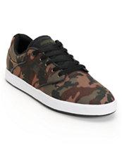 DC Mikey Taylor Pro SE Camo Print & White Canvas Skate Shoe
