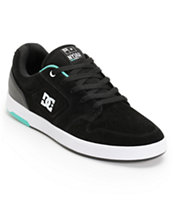 DC Nyjah Huston S Black & Mint Skate Shoe