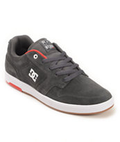 DC Nyjah Huston S Charcoal, White, & Red Skate Shoes
