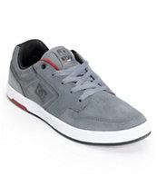 DC Nyjah S Grey & White Suede Skate Shoe