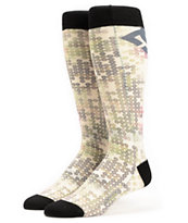 DC Playtime Sequin Print Snowboard Socks