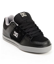 DC Pure Black & Battleship Skate Shoe