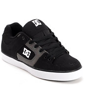 DC Pure TX Black & Dark Shadow Canvas Skate Shoe