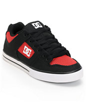 DC Pure TX Black & Red Skate Shoe