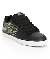 DC Pure XE Black & Camo Skate Shoes