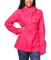 DC Reflect Pink 5K Girls 2014 Snowboard Jacket