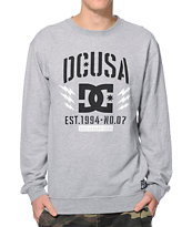 DC Rob Dyrdek Bolts Grey Crew Neck Sweatshirt