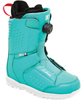 DC Search Teal 2014 Girls Snowboard Boots