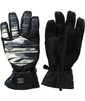 DC Seger Black & White Striped Gloves 2013