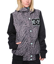 DC Squad Grey Panther Print Girls 10K Snowboard Jacket 2014