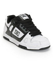 DC Stag White, Black, & Carbon Fiber Skate Shoe