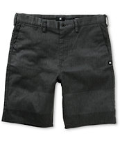 DC Worker Heather Charcoal Stripe Straight Chino Shorts