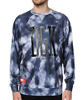 DGK Acid Cloud Tie Dye Crew Neck Sweatshirt