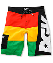 DGK Angle Raded Rasta Board Shorts