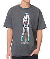 DGK Batter Up Charcoal Tee Shirt