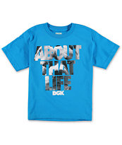 DGK Boys About That Life Blue Tee Shirt