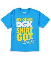 DGK Boys Banned Turquoise T-Shirt