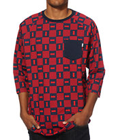 DGK Checkers Baseball Pocket T-Shirt