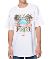 DGK Circle Of Life White Tee Shirt