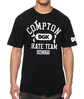 DGK Compton Skate Team Black Tee Shirt