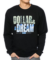 DGK Dollar & A Dream Black Crew Neck Sweatshirt