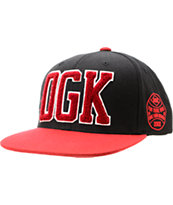DGK Dugout Black & Red Snapback Hat