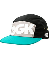 DGK Global Black & Teal 5 Panel Hat