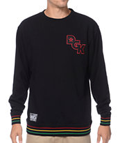 DGK Global Stagger Black & Rasta Crew Neck Sweatshirt