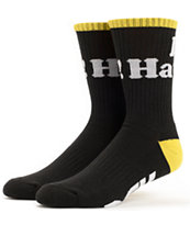 DGK Haters Black & Yellow Crew Socks