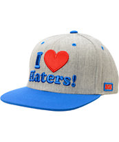 DGK Haters Grey, Red, & Blue Snapback Hat