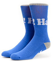 DGK Haters Royal & Grey Crew Socks