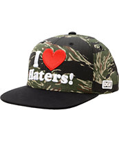DGK Haters Tiger Camo & Black Snapback Hat