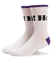 DGK Haters White & Purple Crew Socks