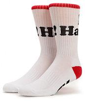 DGK Haters White Crew Socks