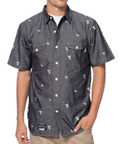 DGK Iconic Black Short Sleeve Button Up Shirt