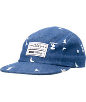 DGK Iconic Blue 5 Panel Hat