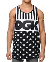 DGK Justice Stars Black & White Tank Top