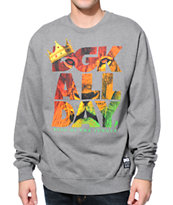 DGK King Of The Jungle Grey Crew Neck Sweatshirt